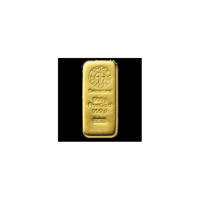 Zlatý slitek Argor Heraeus 500g