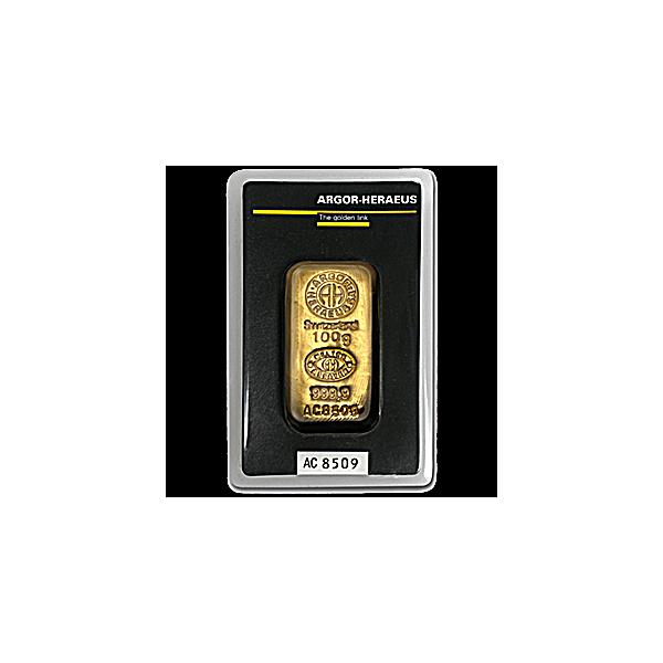 100 g. Investiční zlatý slitek