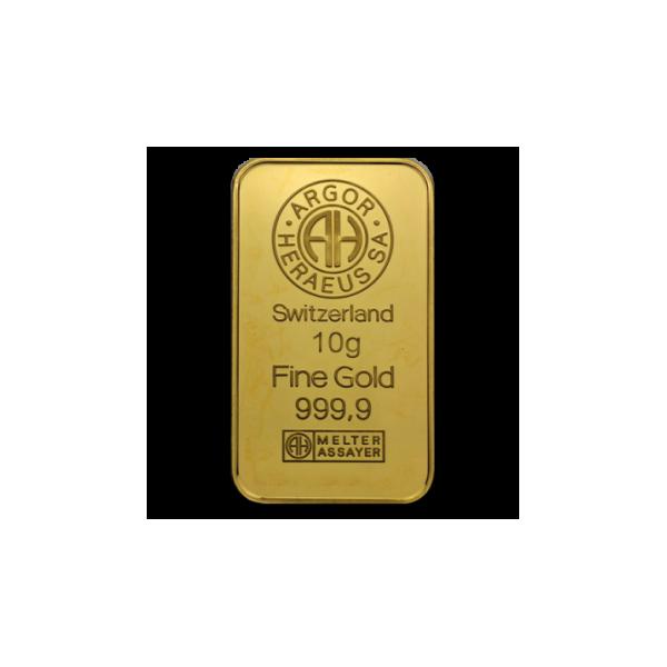 Zlatý slitek Argor Heraeus 10g