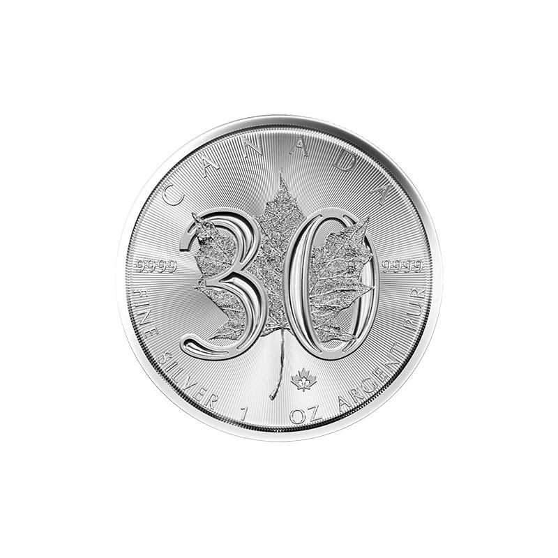 MAPLE LEAF 1 OZ 2018, 30 Let