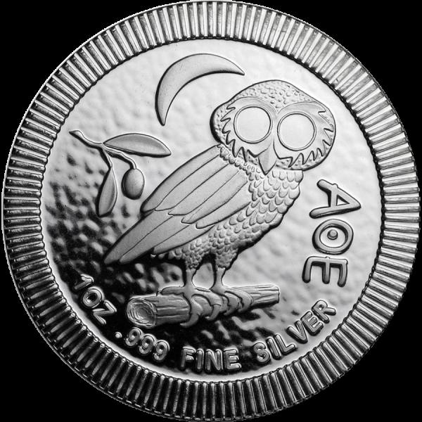 Strieborná investičná minca Athénina Sova 1 Oz