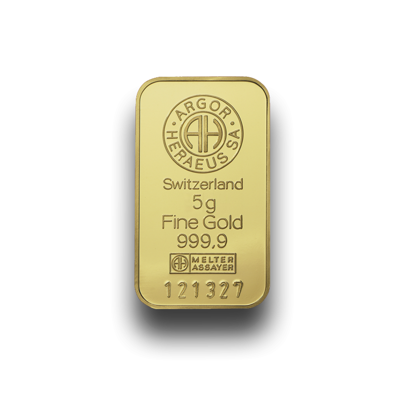5 g. Investiční zlatý slitek GSP