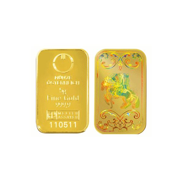 5g. Investiční zlatý slitek KINEBAR