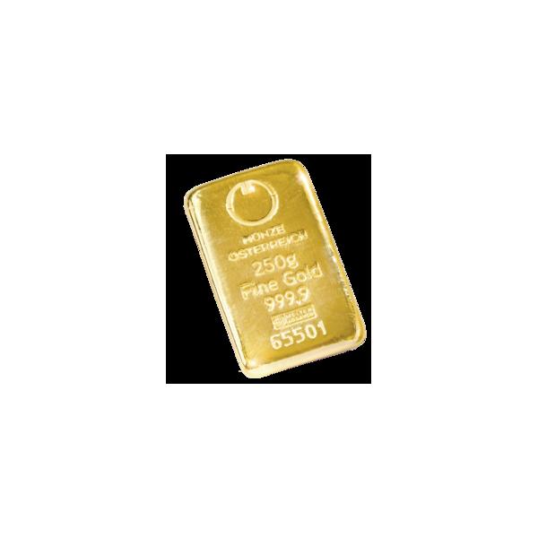 250 g. Zlatý slitek Österraich
