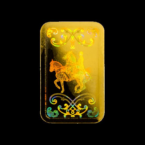 1g. Investiční zlatý slitek KINEBAR