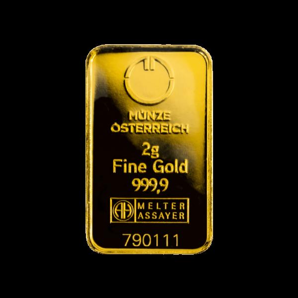 2g. Investiční zlatý slitek KINEBAR