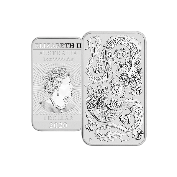 31,1 g. Australský  Dragon  1oz. 2020